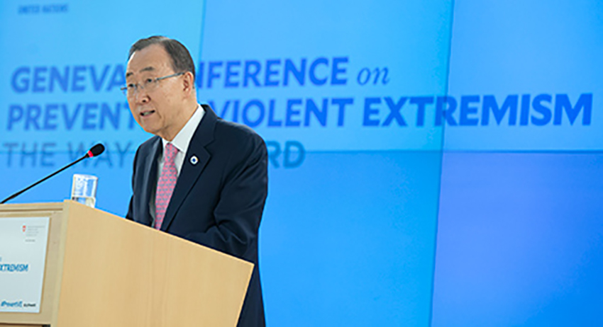 Secretary General Ban Ki Moon had a clear vision of how to prevent violent extremism – but how clear-sighted will the UN be on the issue in practice? Credit: UN