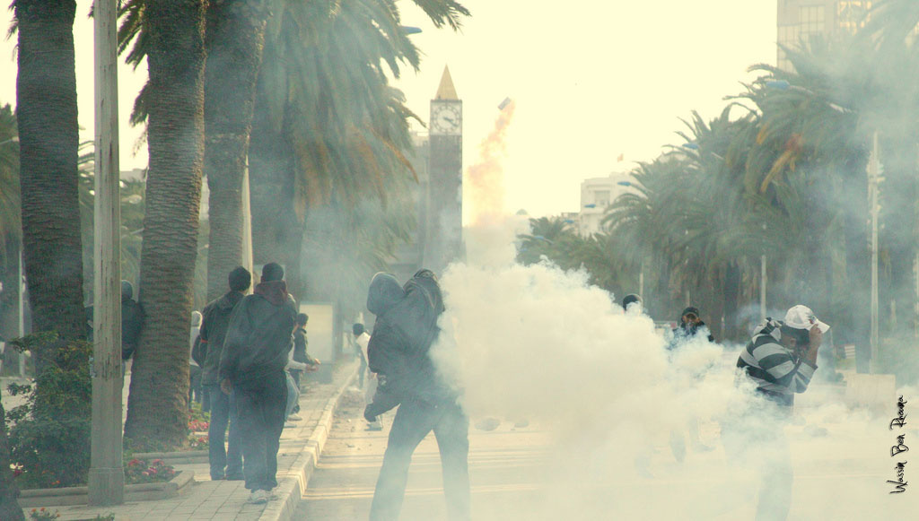Demonstration in Tunis during the uprisings, January 2011. Photo: Wassim Ben Rhouma