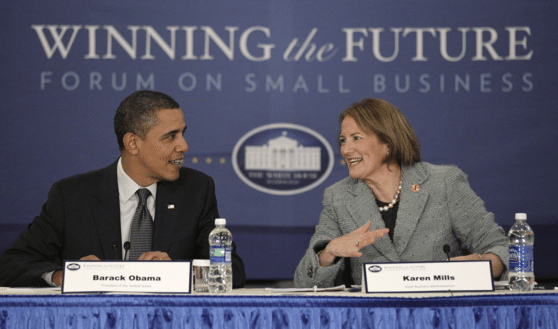 Karen Mills  is a Fellow at the Harvard and a leading authority on entrepreneurship & online lending. She was a member of President Obama's Cabinet, serving as the Administrator of the U.S. SBA from 2009 to 2013 (Photo: U.S. SBA).
