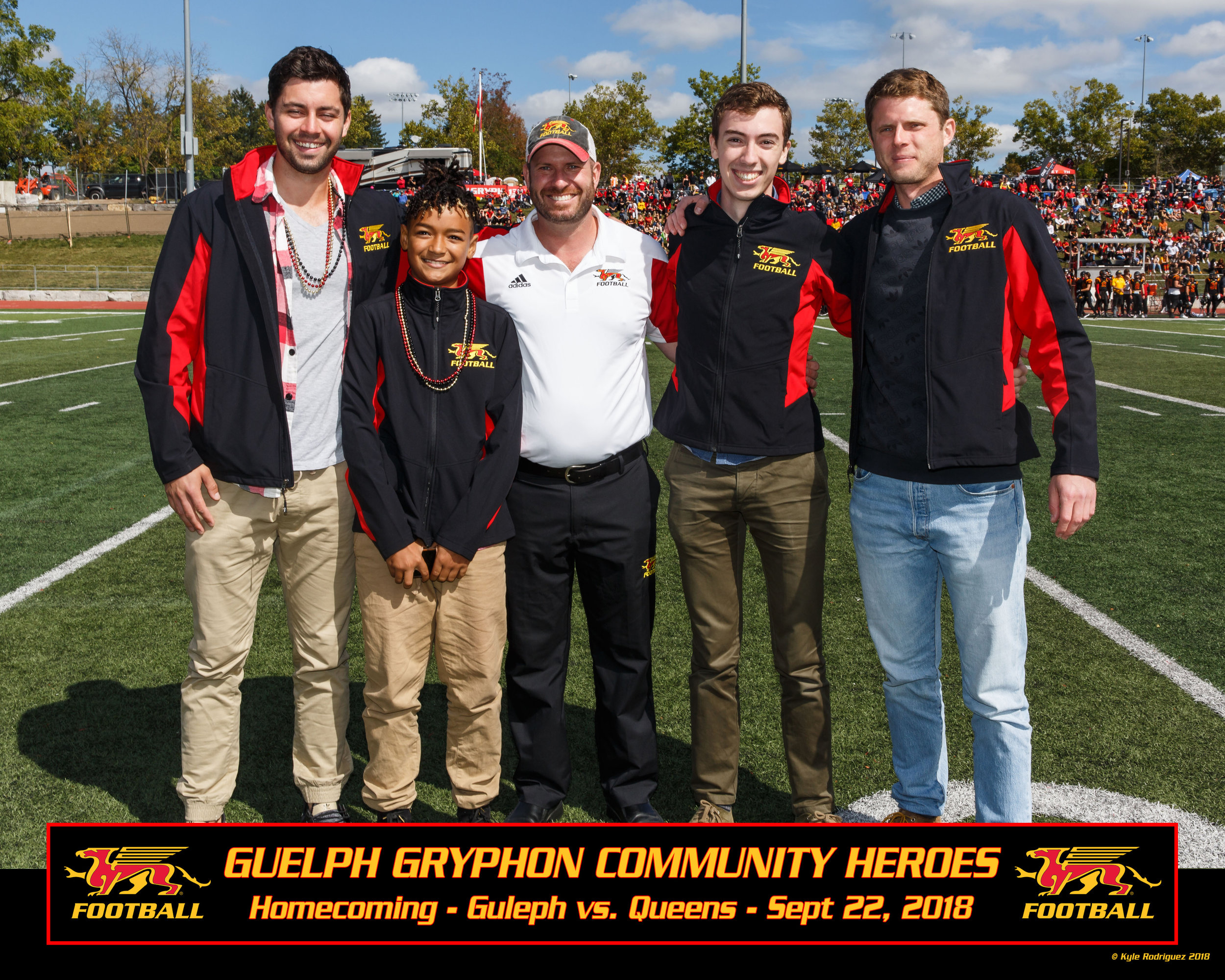 From left: Konrad, Shai, Scott McRoberts (UofG Athletic Director), Konrad, Justin.