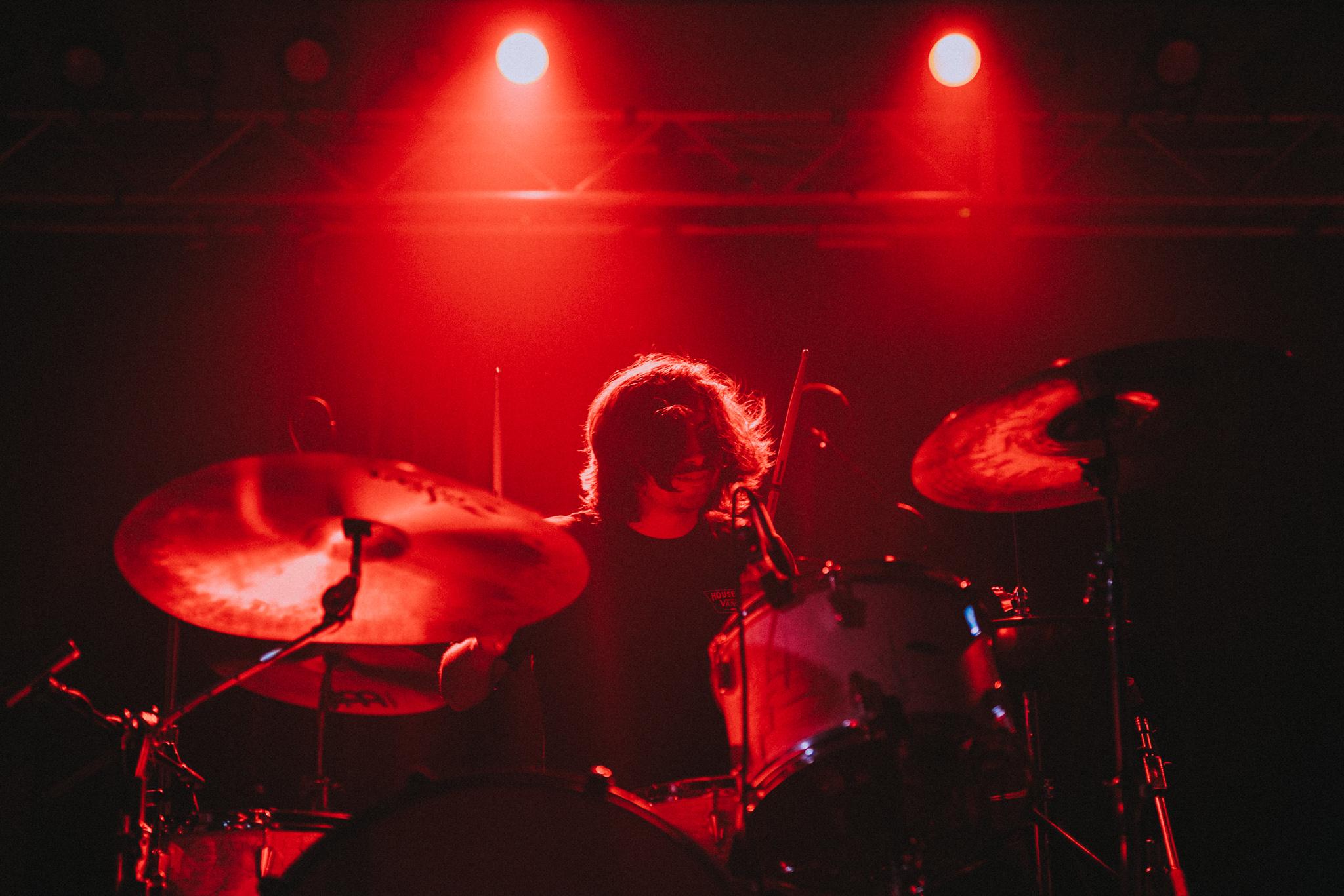 Mario of Chon playing drums for F.C.P.R.E.M.I.X!