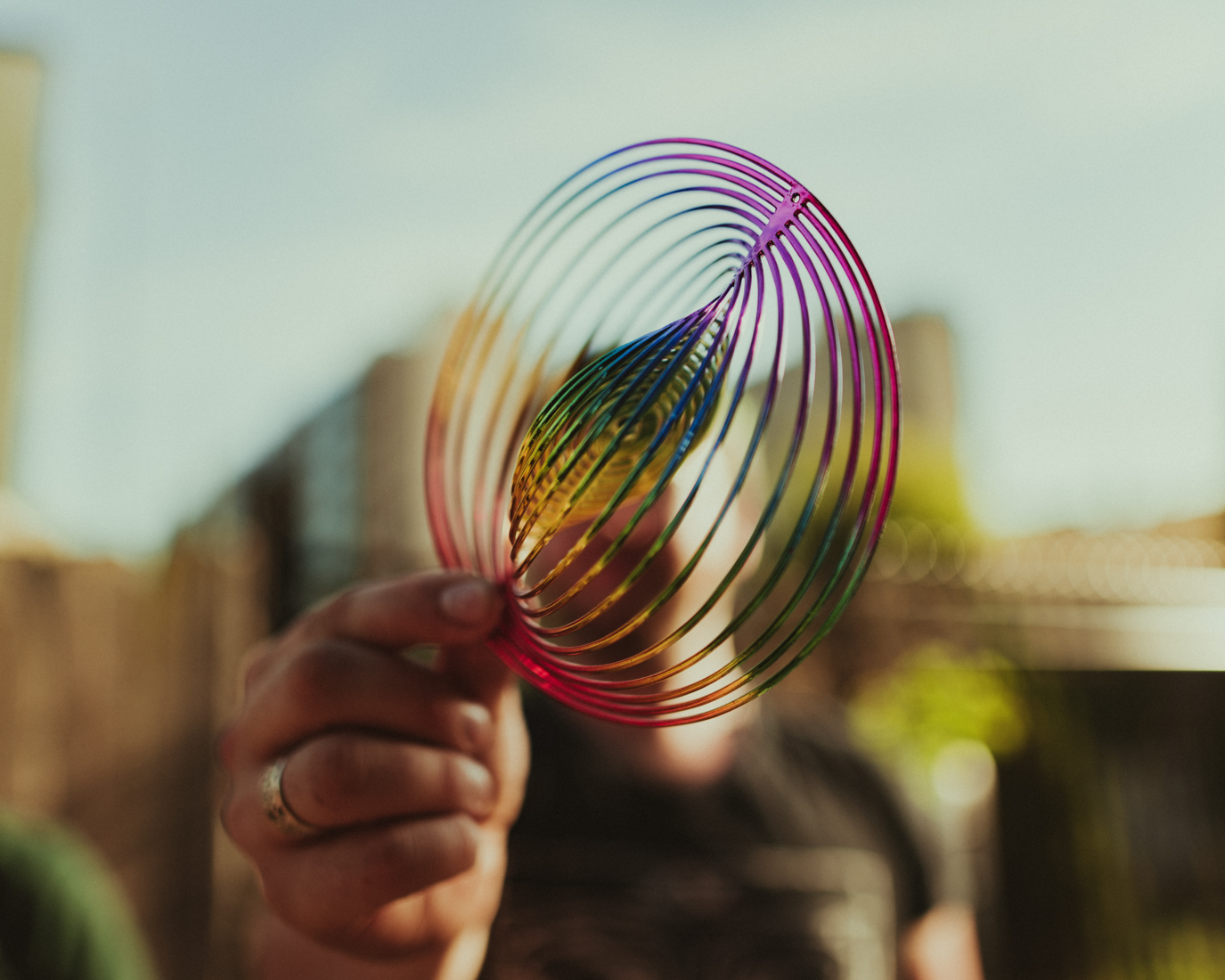 prop #2: rainbow windcatcher thing - Woelfel used one in his video, too, they're really amazing to use!