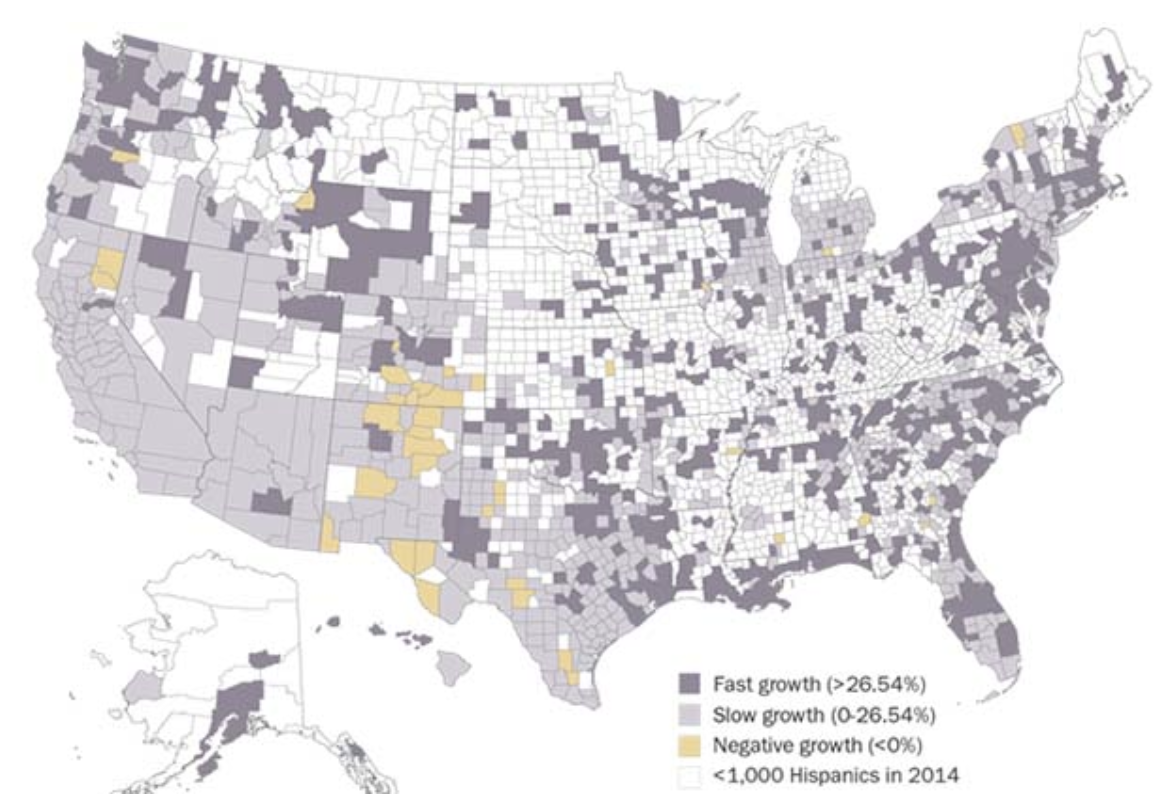Hispanic American Growth Abounds  Source: Pew Research Center