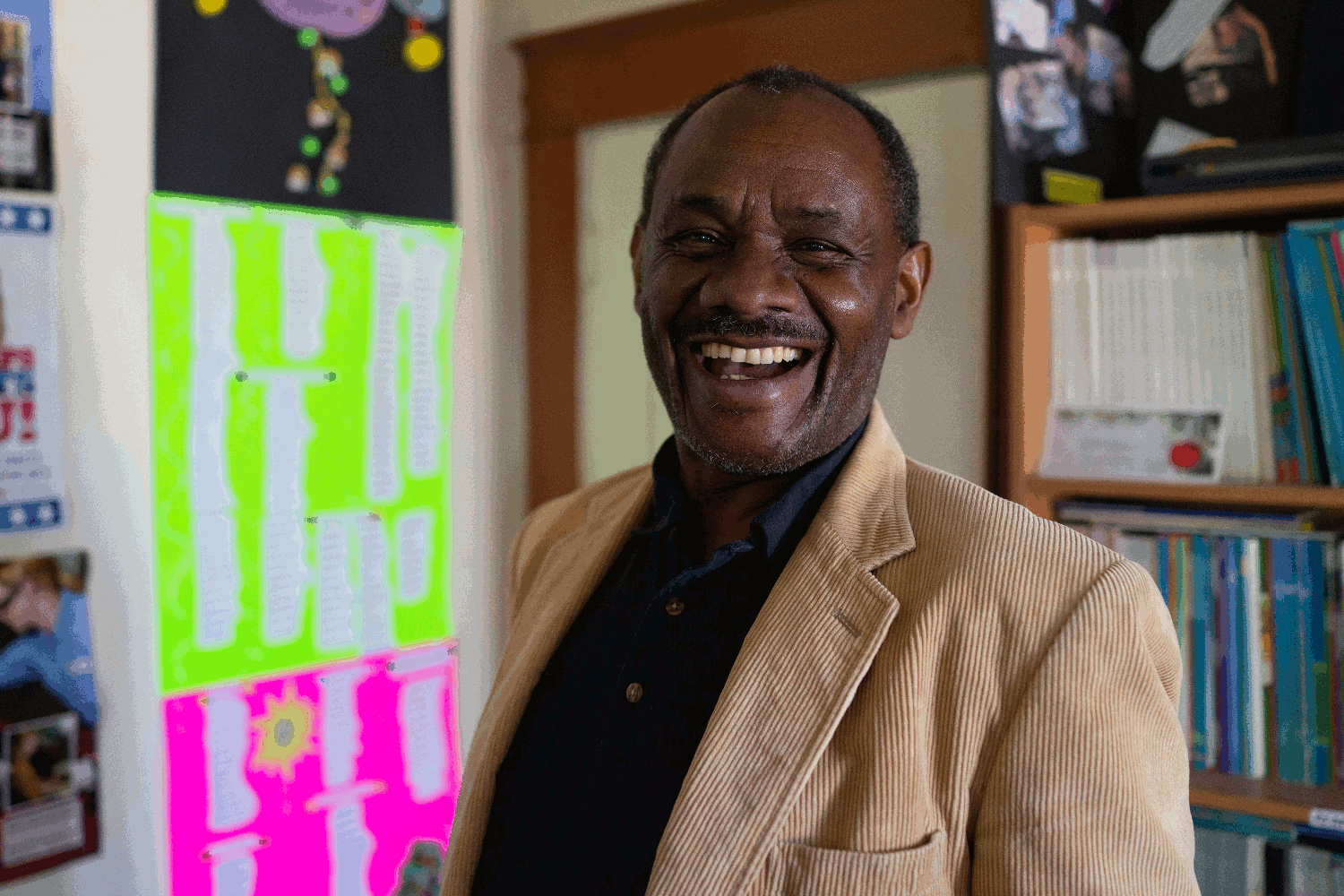 Teacher Benson Ndolo, a native of Kenya, has spent years on the Navajo Nation helping people get a high school equivalency diploma . Don Usner / Searchlight New Mexico.