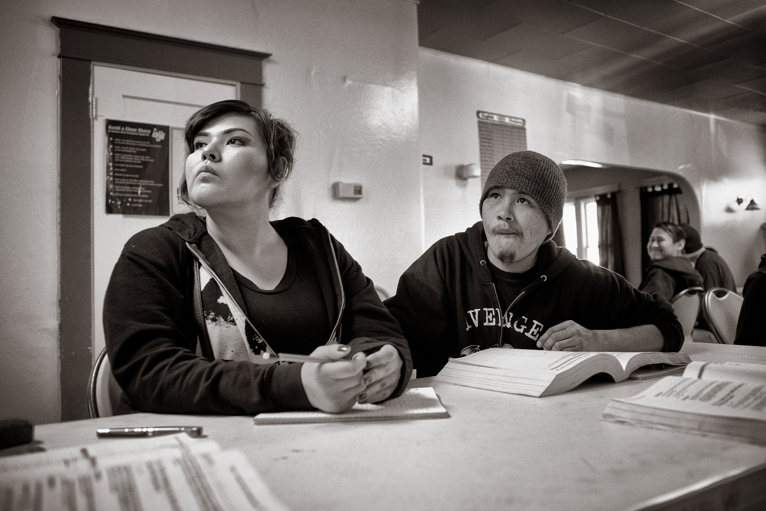 Talena Shirley and Gary Lee, students at the New Life Learning Center in Gamerco.  Don Usner / Searchlight New Mexico.