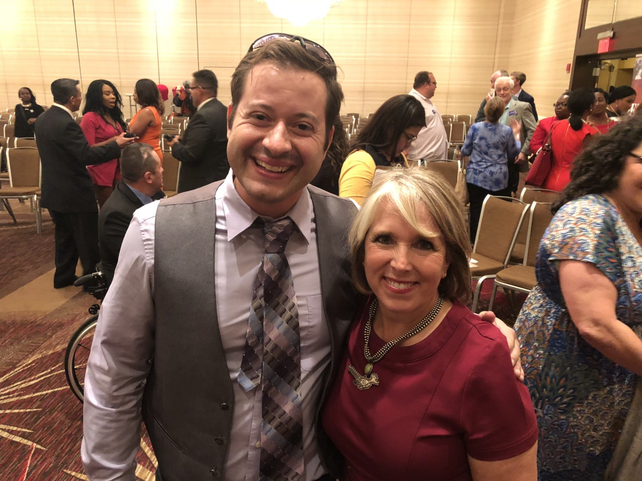 Greg with New Mexico Governor Michelle Lujan Grisham