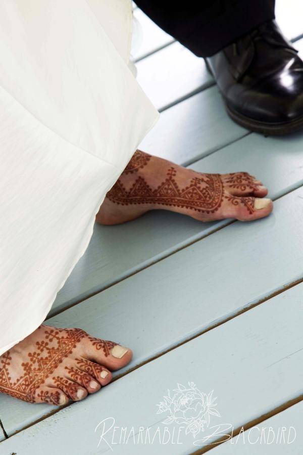 Moroccan bridal feet