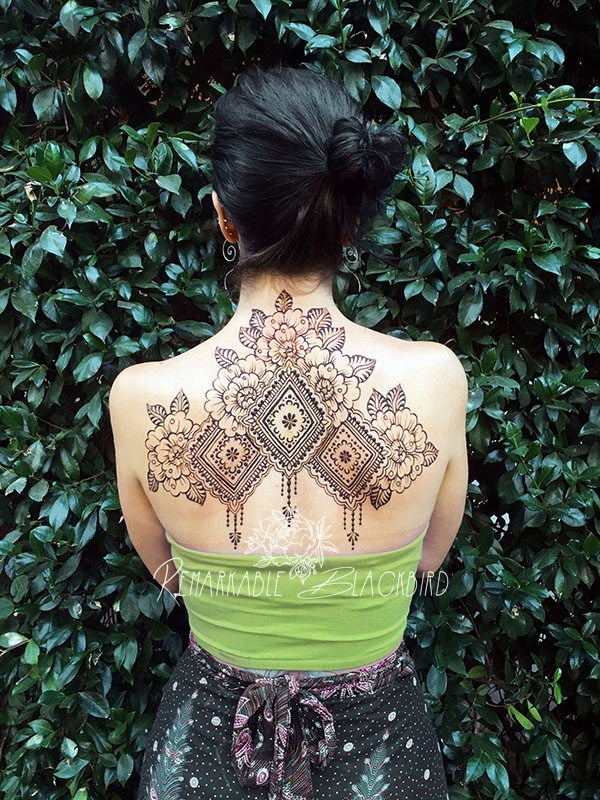 Folk art back piece