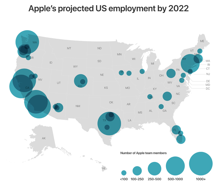 Why Apple Chose Austin, Seattle And Culver City For Its New Jobs Push