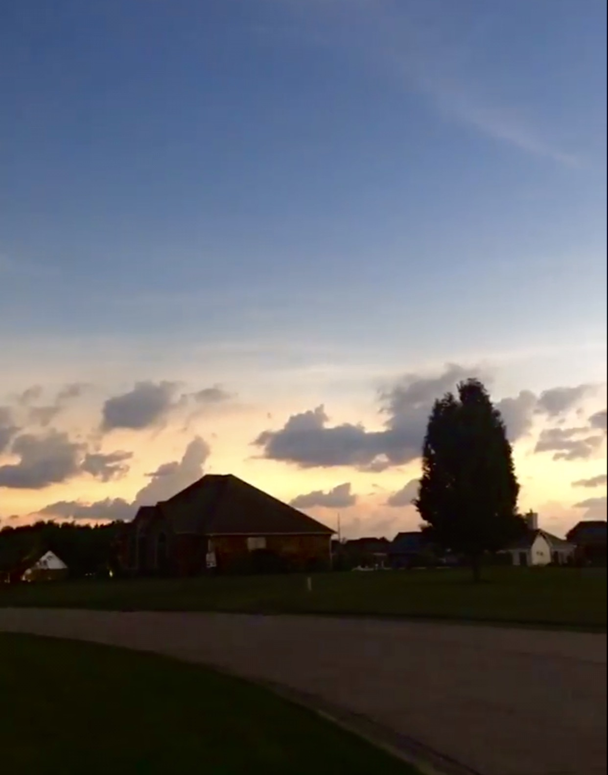 Gorgeous 360 degree sunset. I was looking north which isn't normally where we see sunsets!
