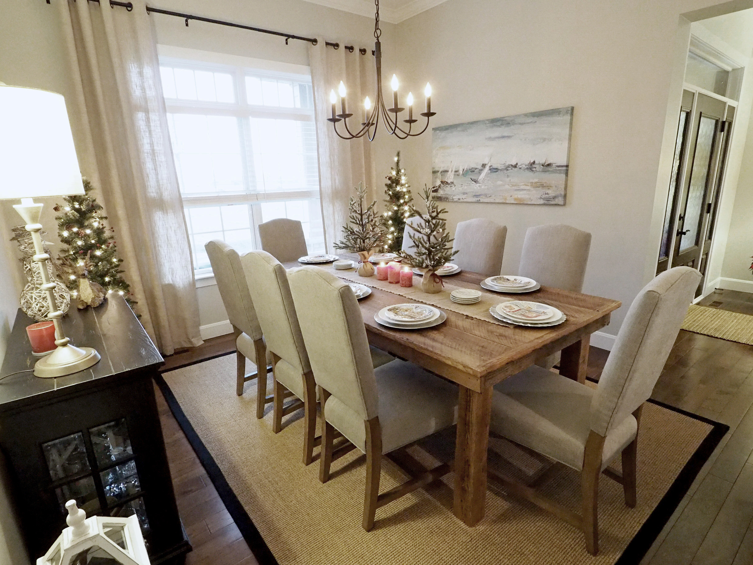 Ashton Non-Tufted Dining Chairs from  Pottery Barn  - Color is Silver Taupe