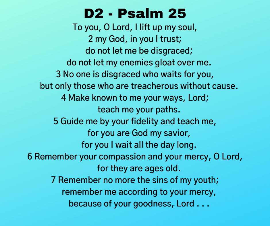 D2 - Psalm 25
