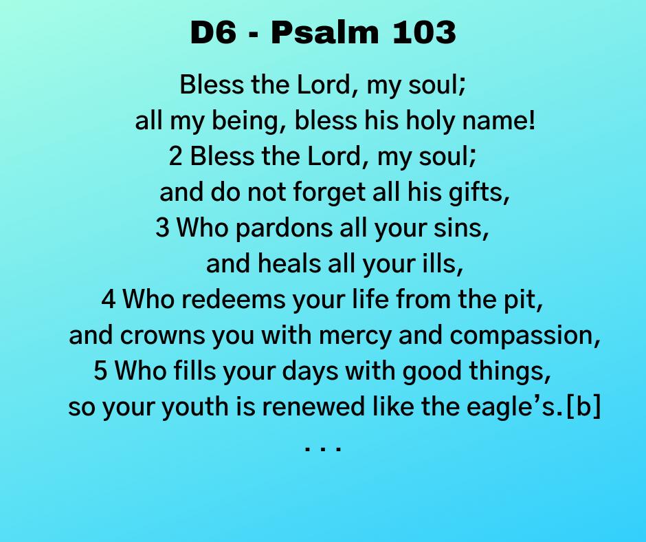D6 - Psalm 103