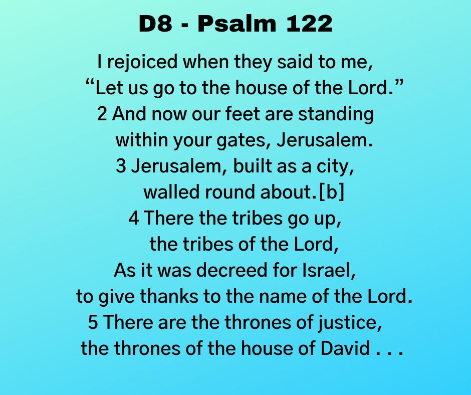 D8 - Psalm 122