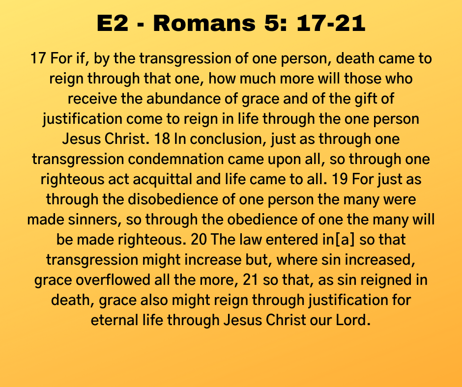 E2 - Romans 5: 17-21