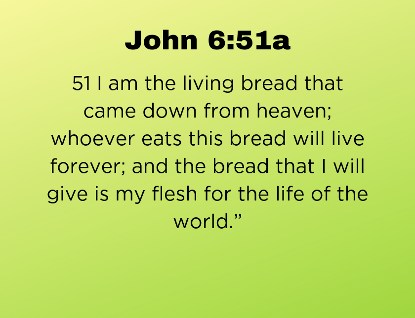 John 6:51a