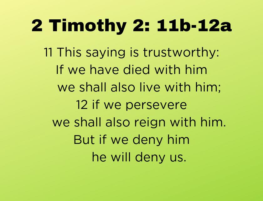 2 Timothy 2: 8-13