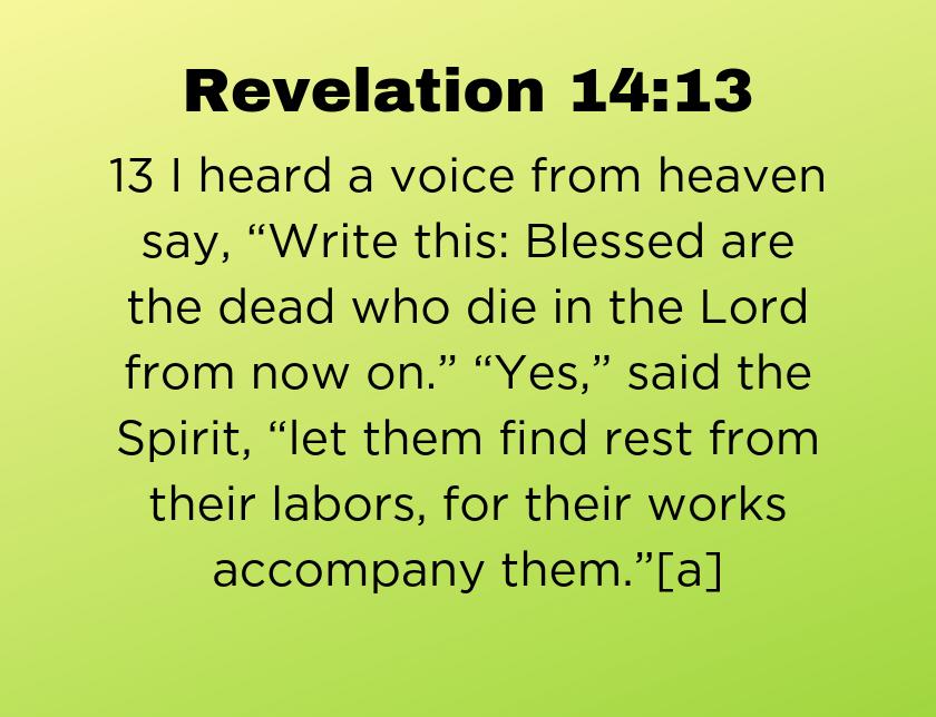 Revelation 14: 13