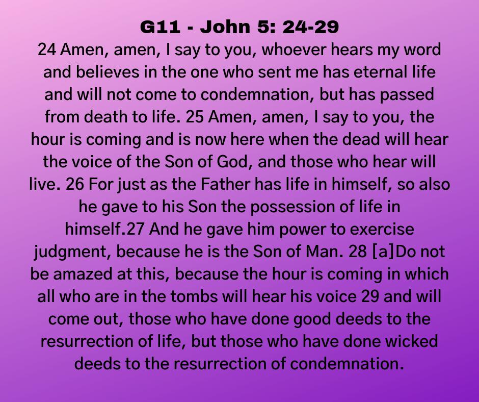 G11 - John 5: 24-29