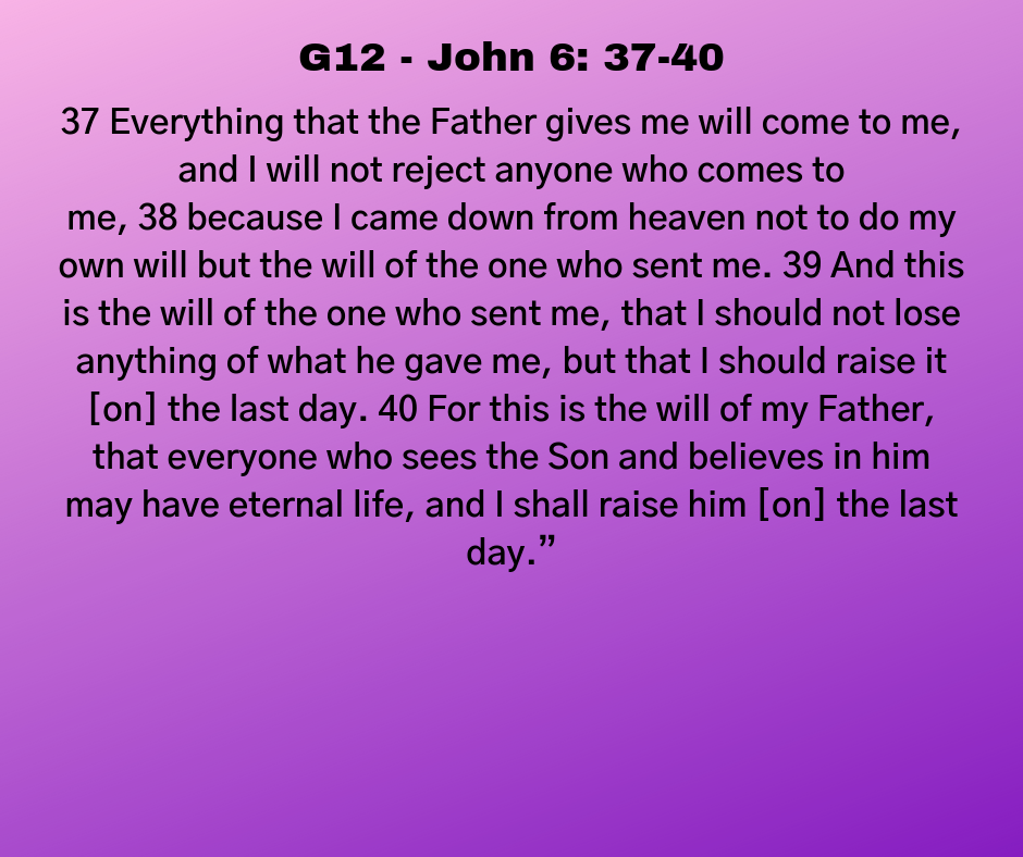 G12 - John 6: 37-40