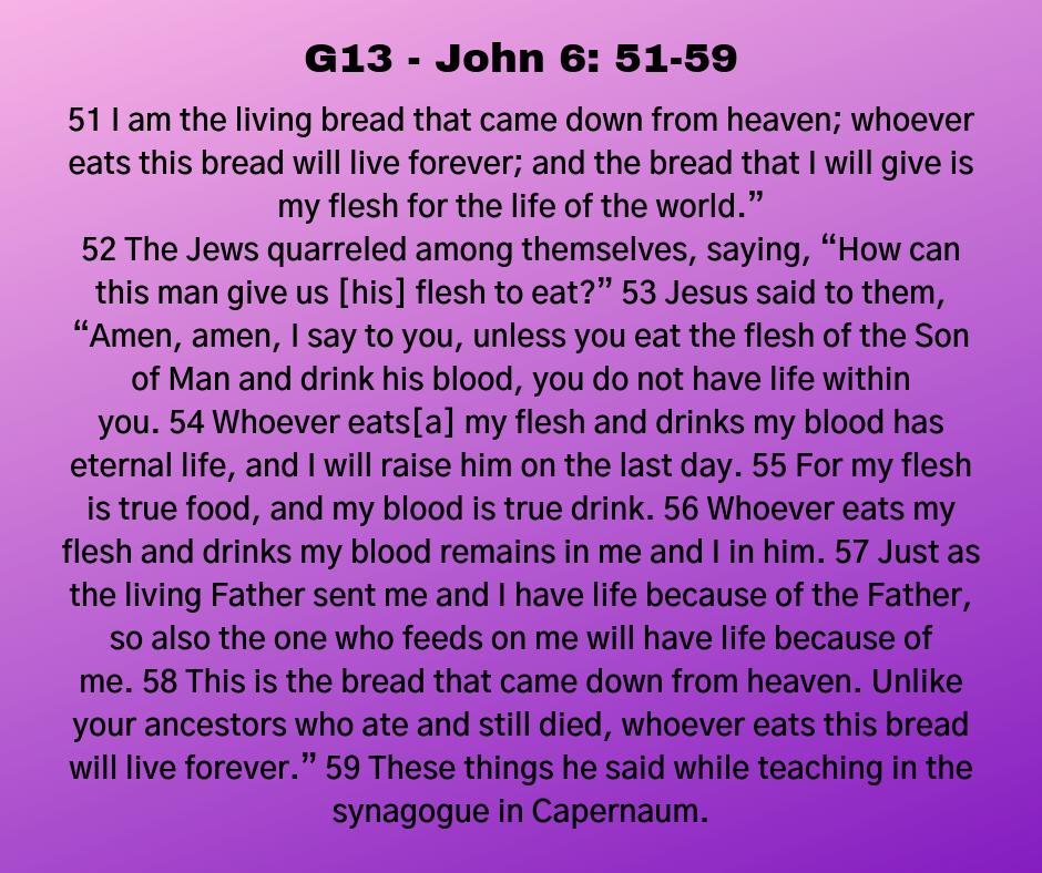 G13 - John 6: 51-59
