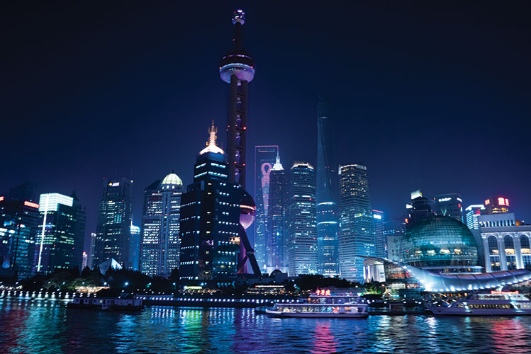 shanghai lights | china