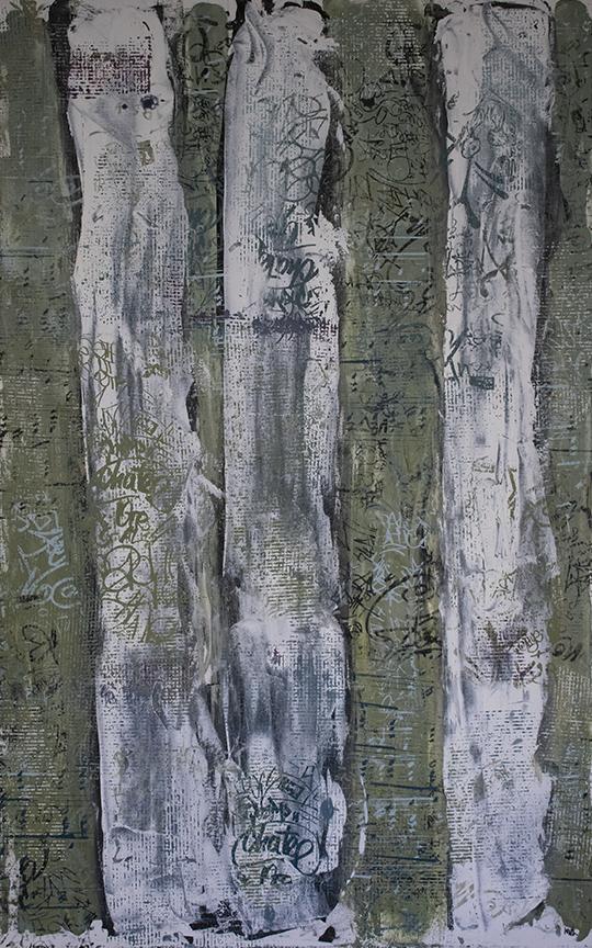 "U-2 BIRCH TREES  | 30""x48"""
