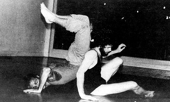 Early Contact improvisation experiments at the Natural Dance Studio in Oakland, circa 1975, photo courtesy of Nita Little.