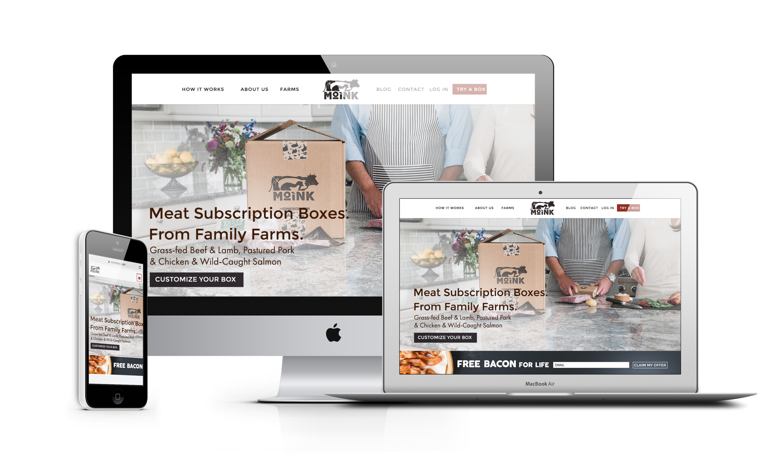 Moink Meat Delivery Service |  | Well Refined Startup Marketing Agency