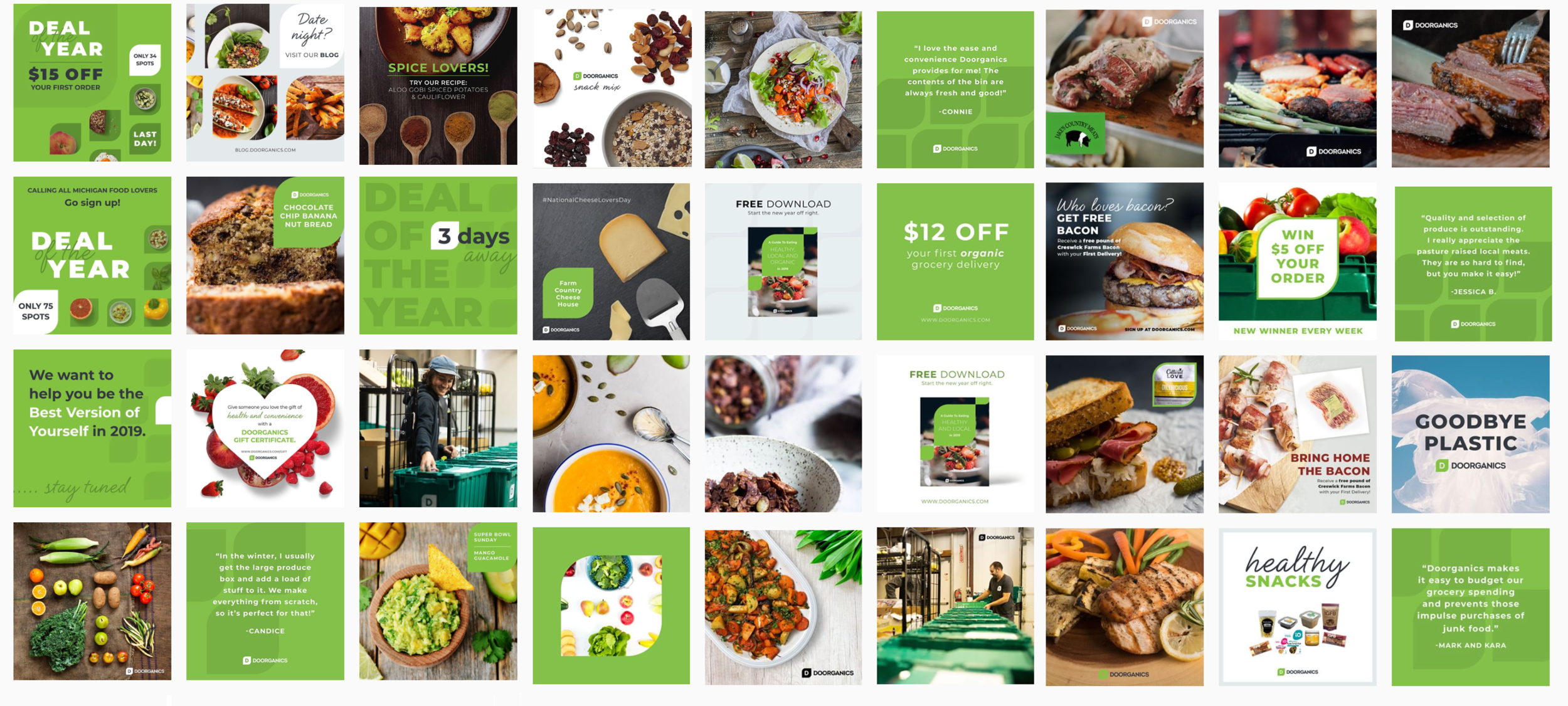 Doorganics Instagram Scheduling | Well Refined Startup Marketing Agency