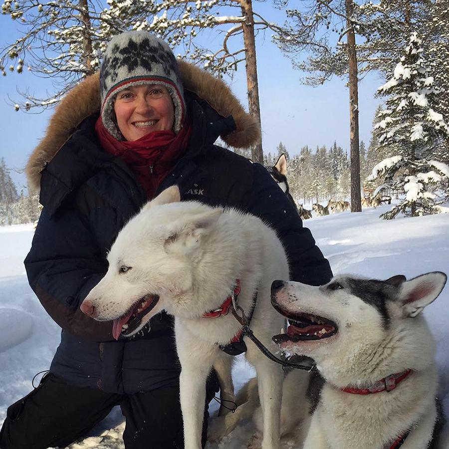 Birgitta med Nymånens Jussi och Nymånens Rob