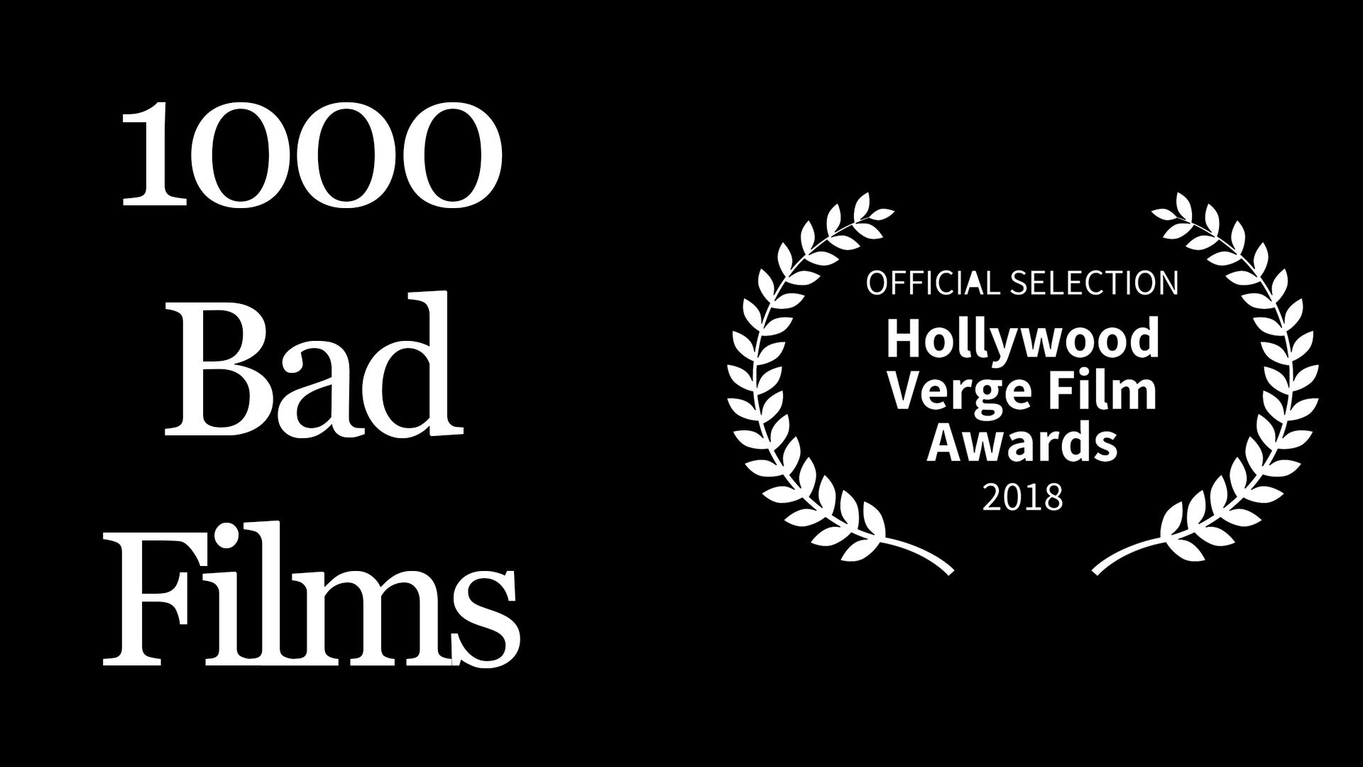 1000 Bad Films (2018) - I directed, edited and designed this project. It's a documentary about my insecurities not only as a filmmaker, but also as a person.Run Time - 8 minutes 50 seconds