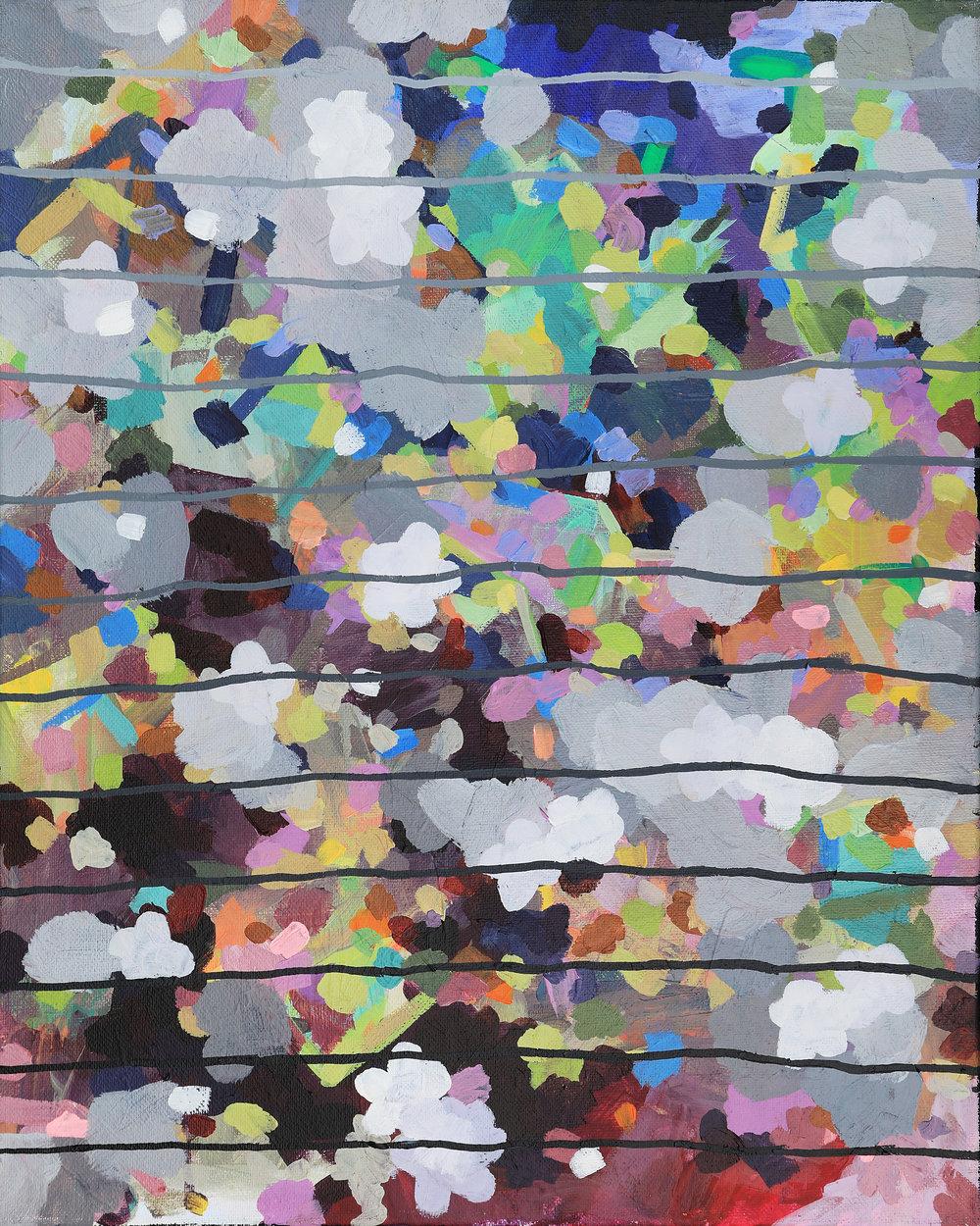 Glitter Bomb.  16in x 20in. Brianna Bass, 2015.