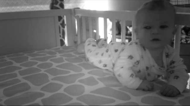 He's doing a great job learning how to nap in his crib...