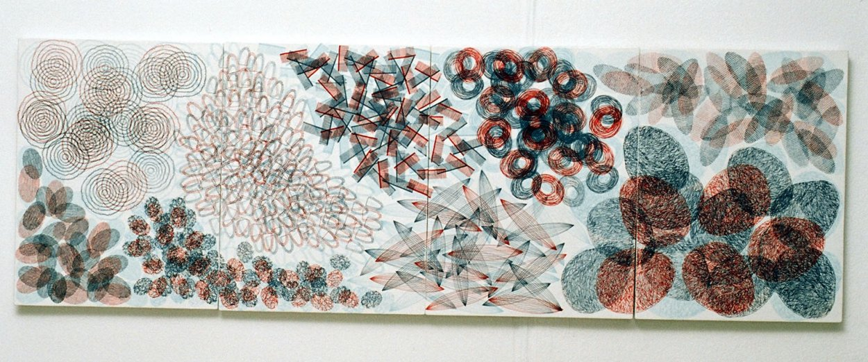 'Around The Point', multi-fired 3 tile panel, 2004.