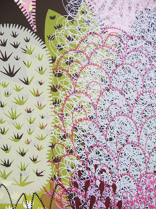 Detail from 'Foliage Series' screen-print, private commission, 2007.