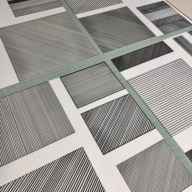 Lines.............., drawings on transparencies ready to be transferred to screens for printing. . . • #jessiehigginson #printmaking #printprocess #contemporaryart # screenprinting #jessiehigginsoncreative #grayswharfstudios