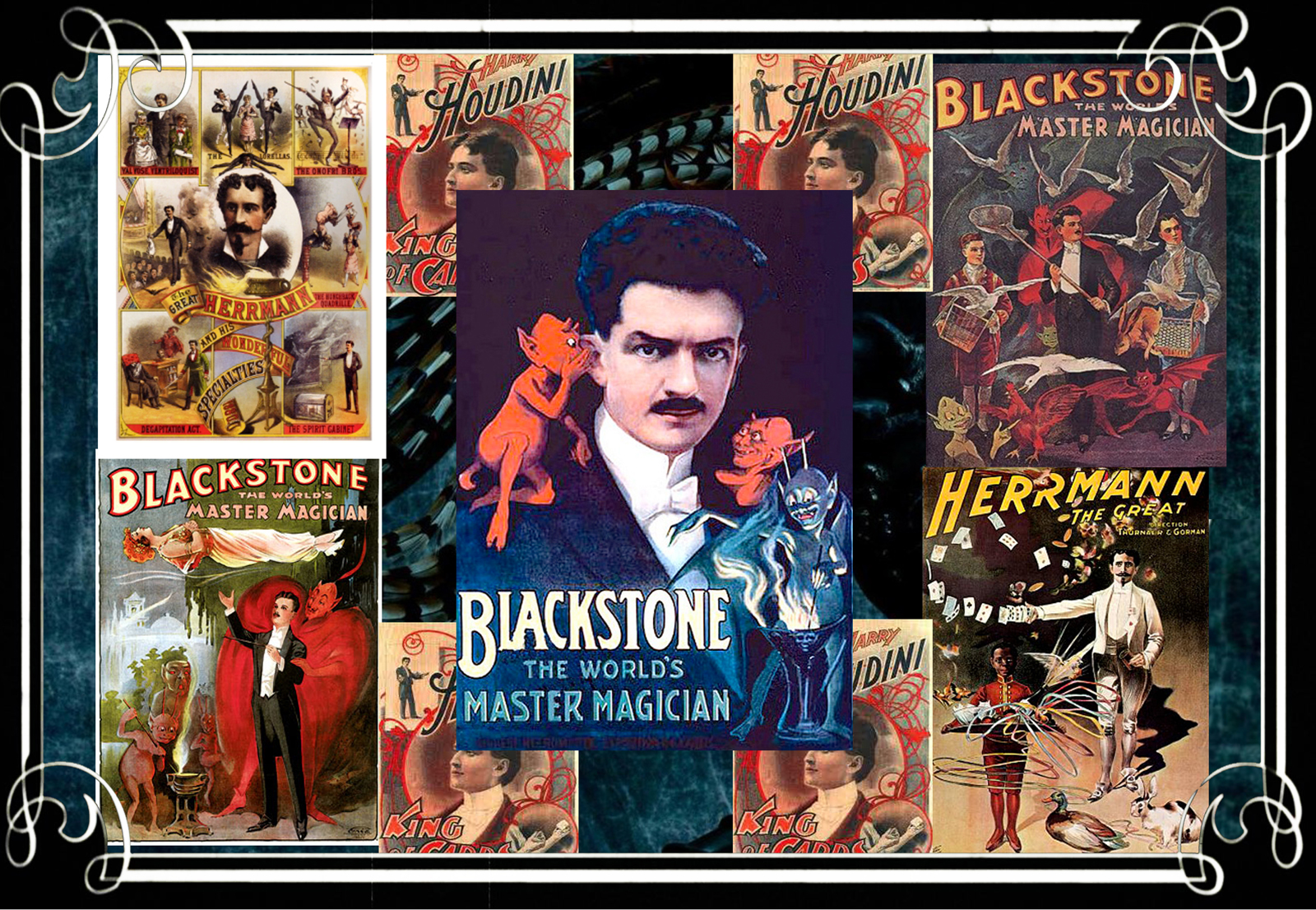 I always start with mood boards and on this job, it was an inspiring process diving back into Charlie Chaplin films and Houdini.