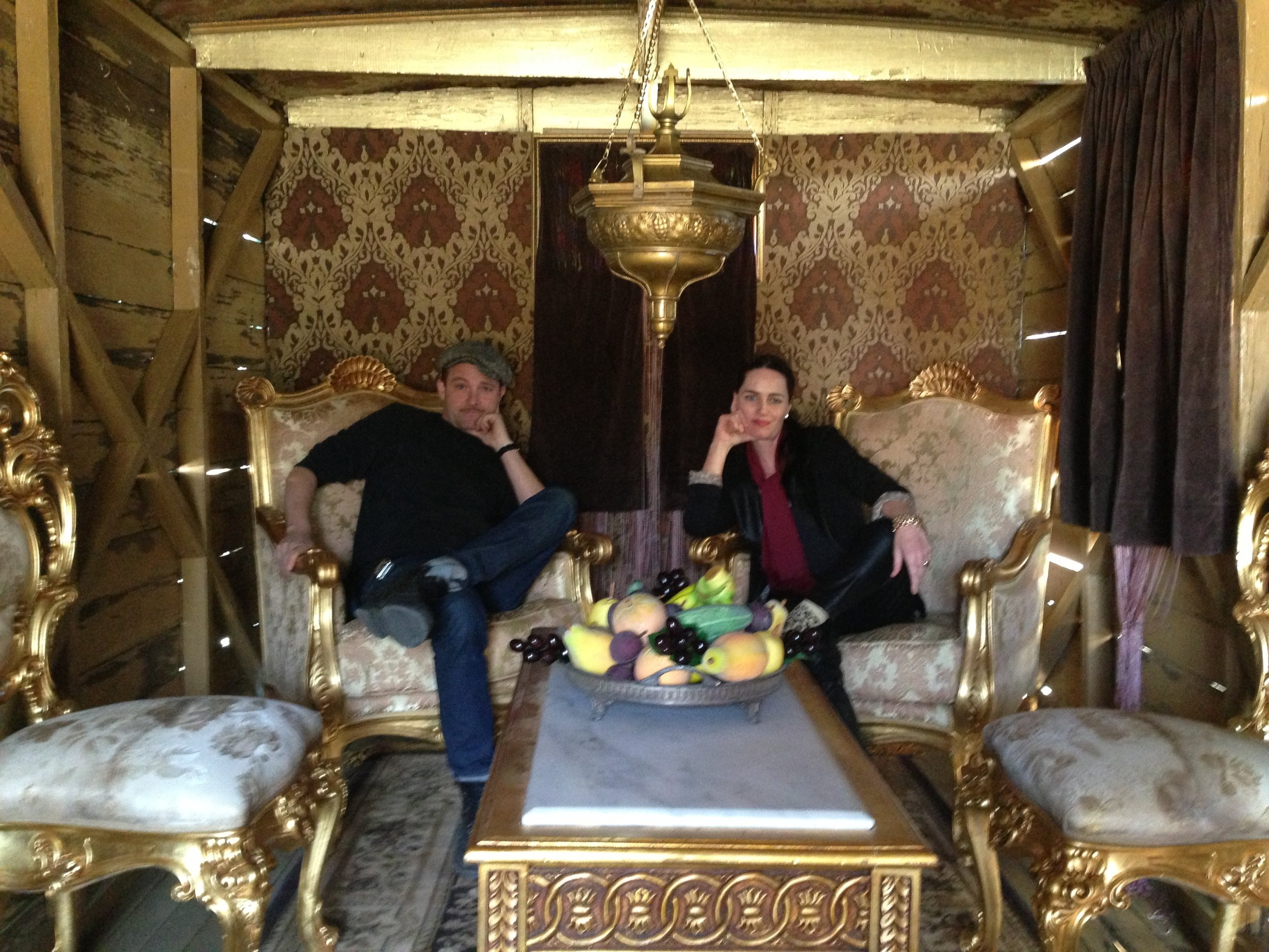 With my genius art director Christian Zollenkopf out scouting for props
