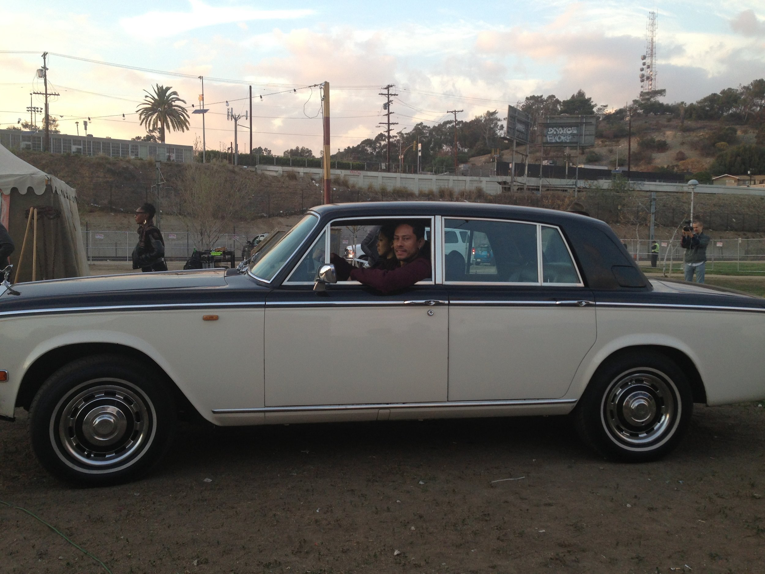 Our Costume Designer, Bea Åkerlund loaned us her car for the shoot.
