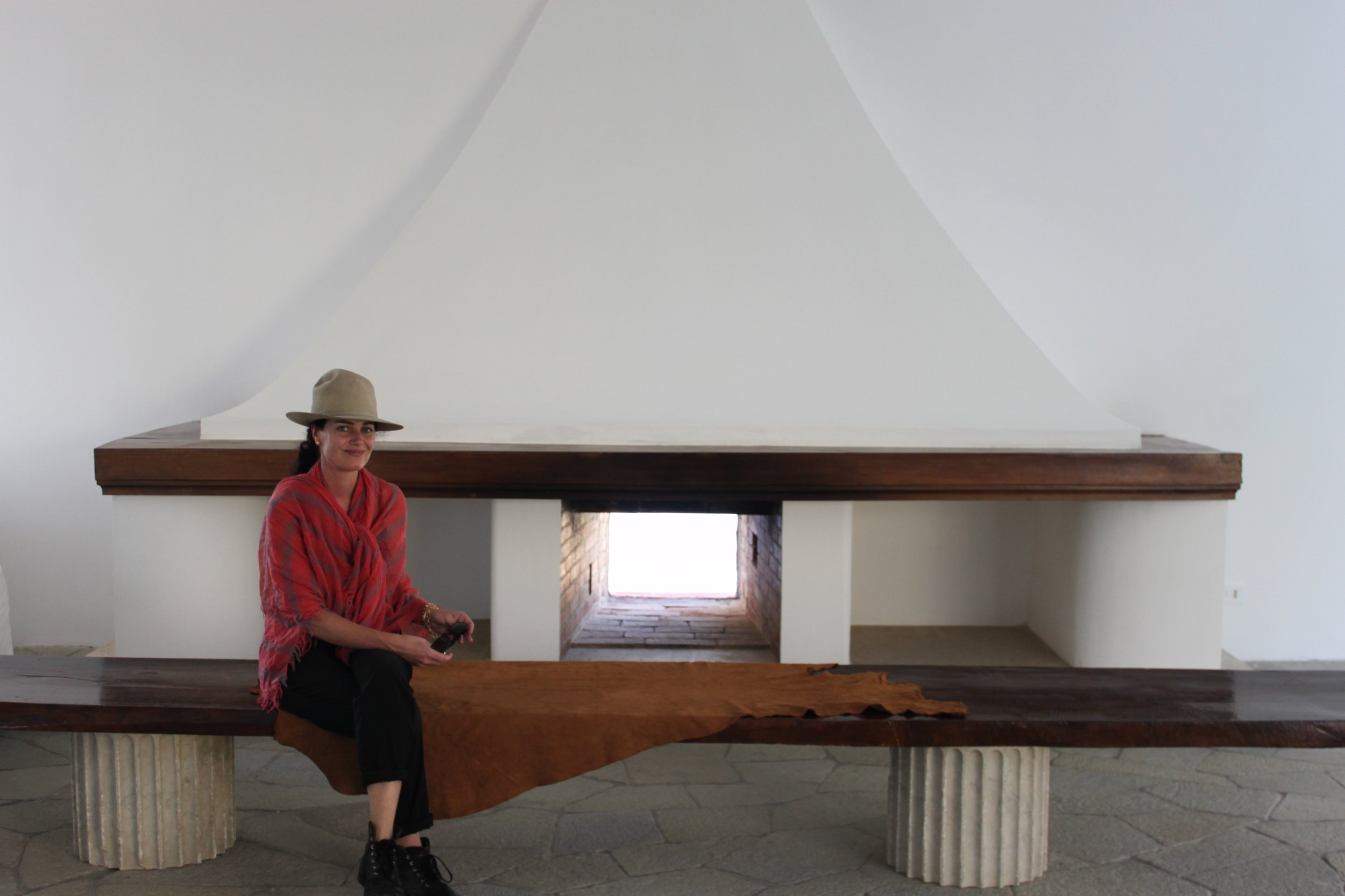 """I feel like the luckiest girl in the world sometimes. A trip to work on the island of Capri at the famous Casa Malaparte - designed by Curzio Malaparte which was in the famous jean Luc Godard film """"Contempt"""" which was pivotal for me in film history and my motivation to work in design in film."""