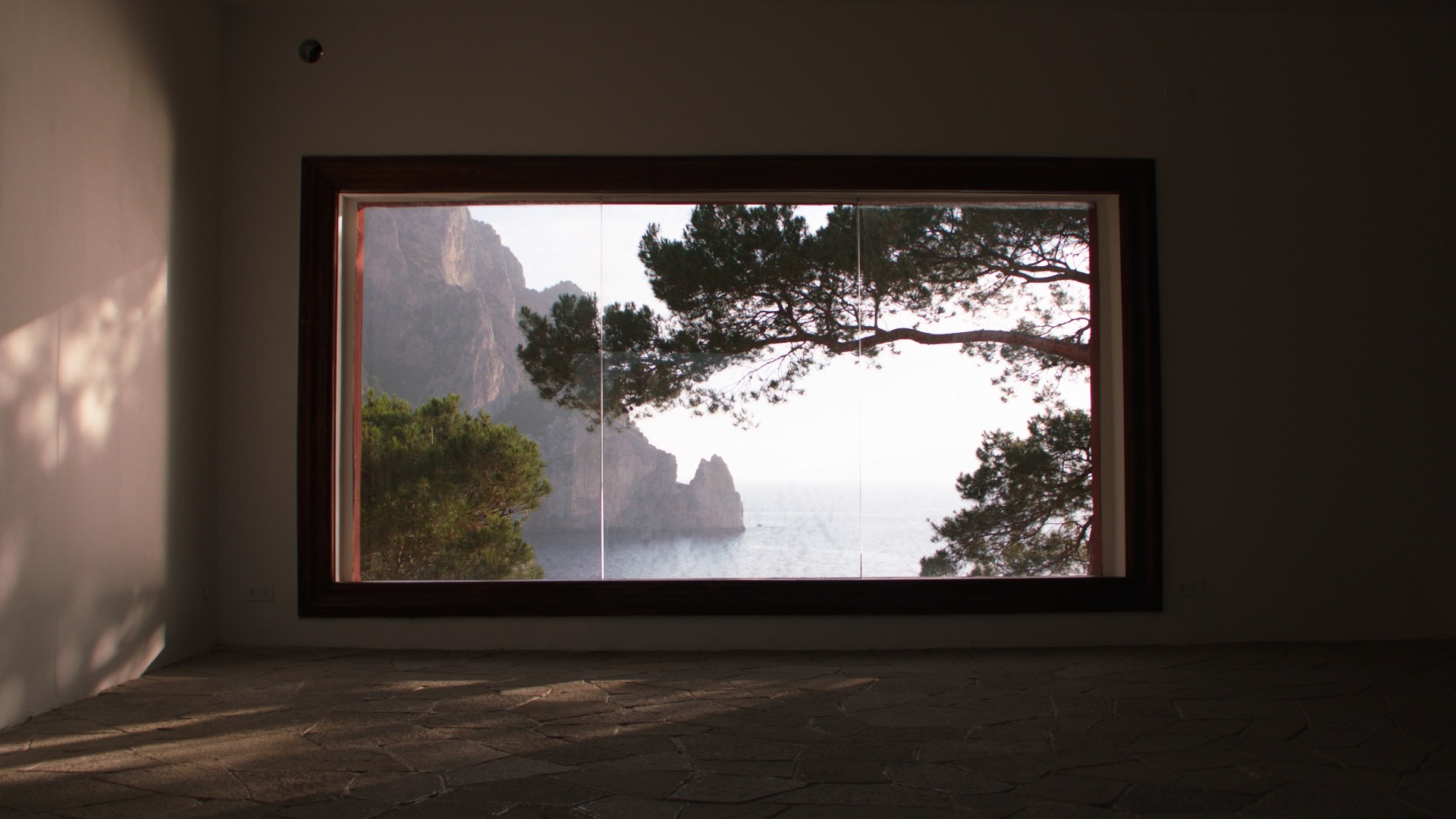 The windows are built in size and position to frame the beauty of the outdoors.