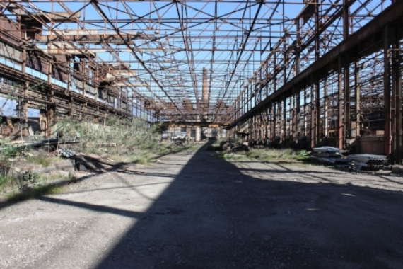 Until we took it outside to an abandoned steel mill.
