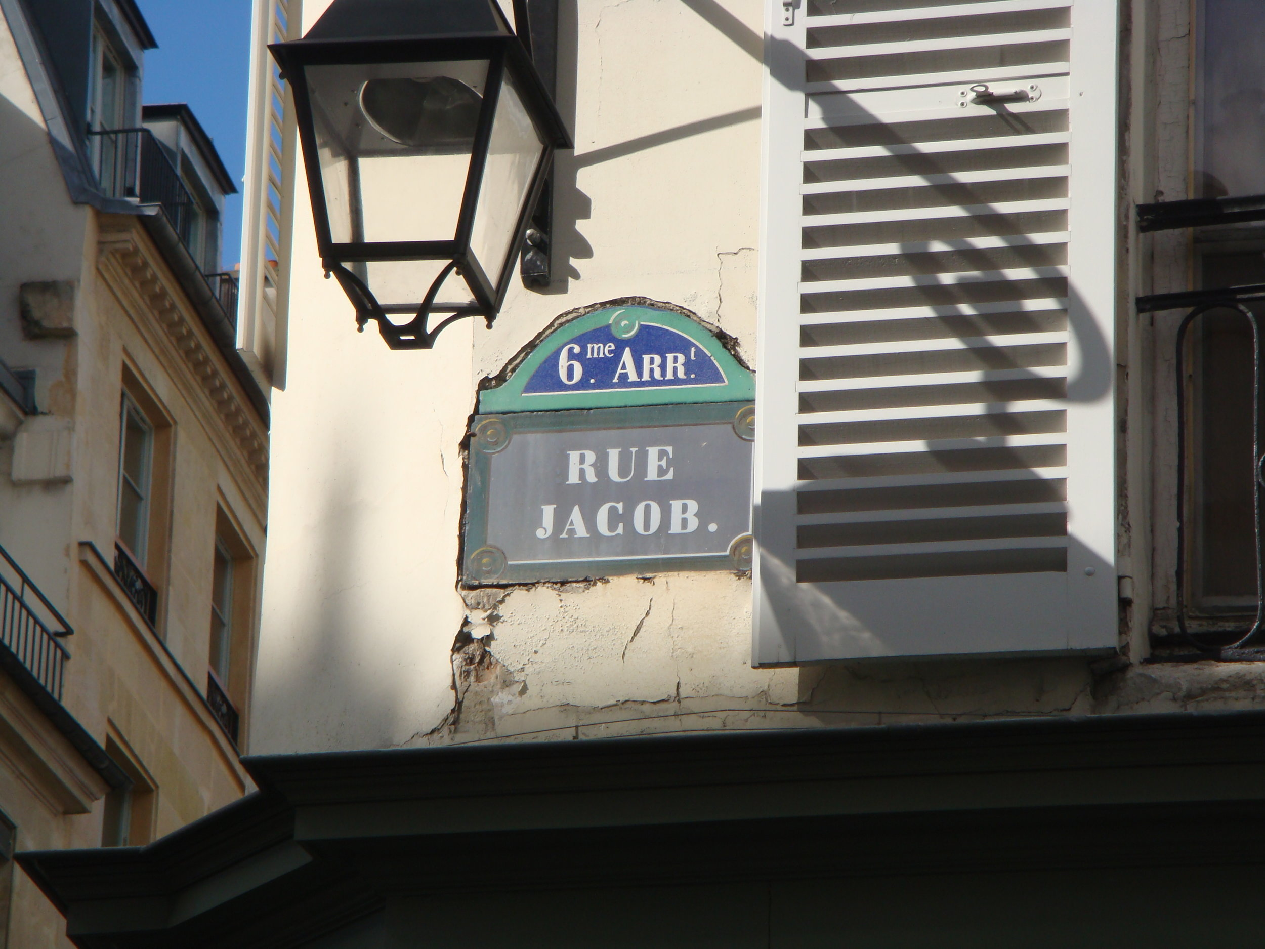 A view of our namesake, Rue Jacob