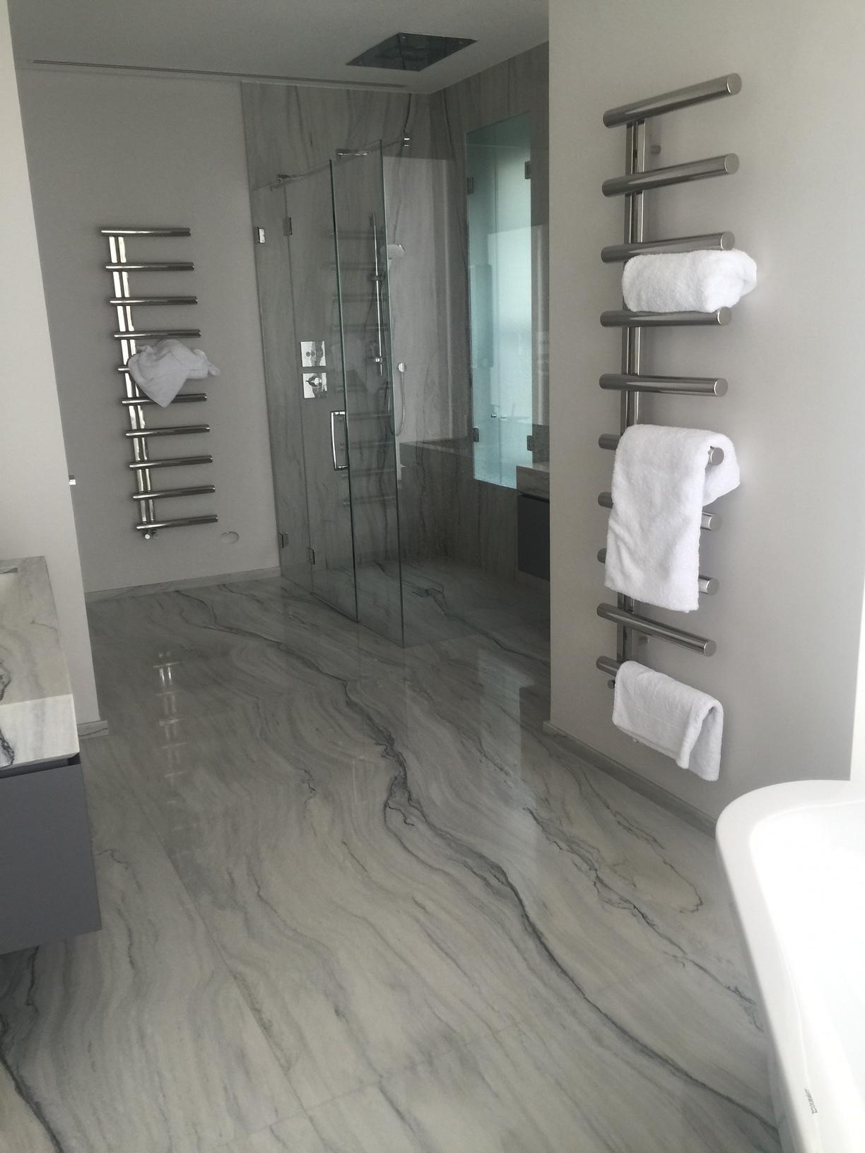 After... - Quartzite Superlative Bathroom Installation