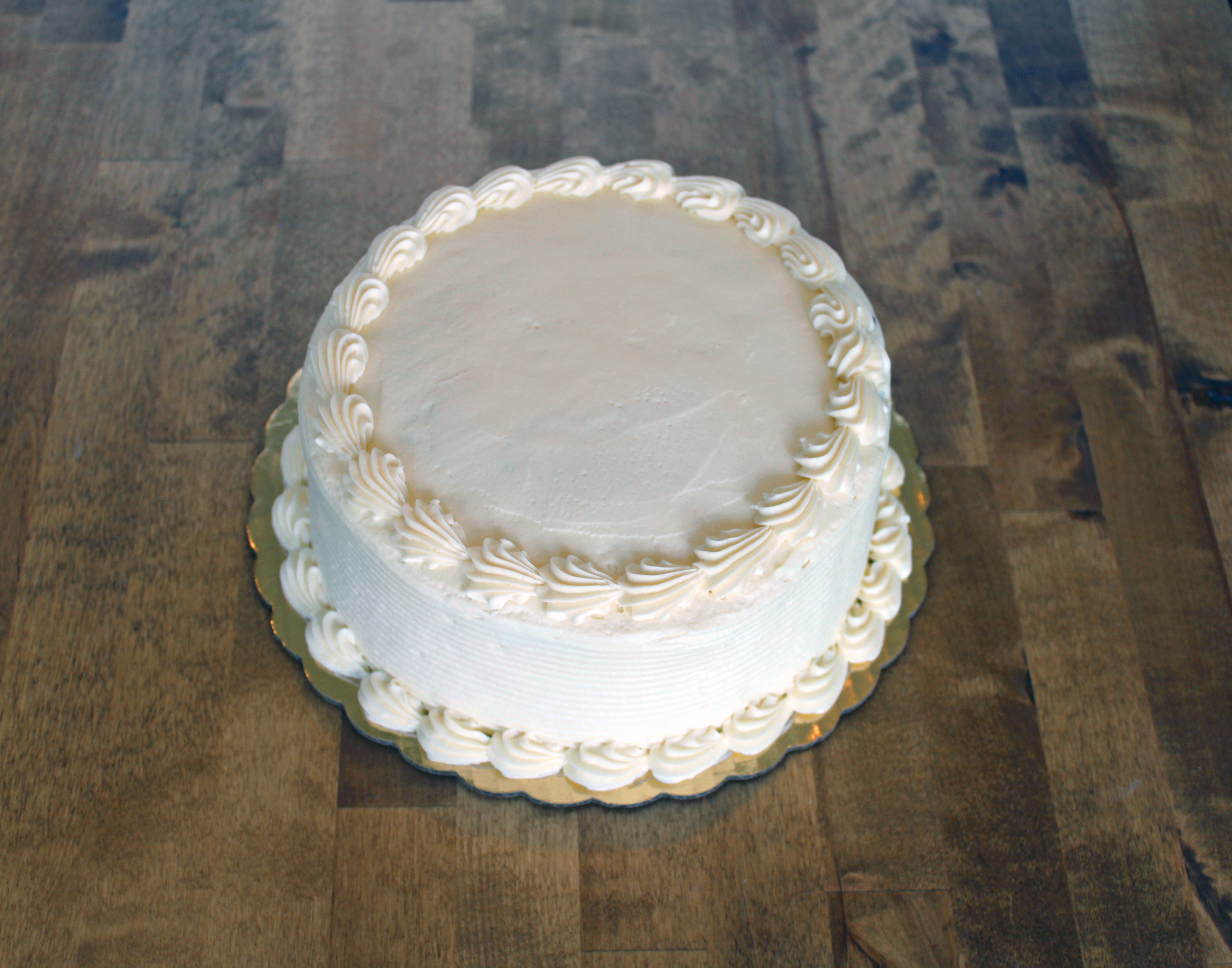 8 in round cake - $19.99    serves 8-10 people