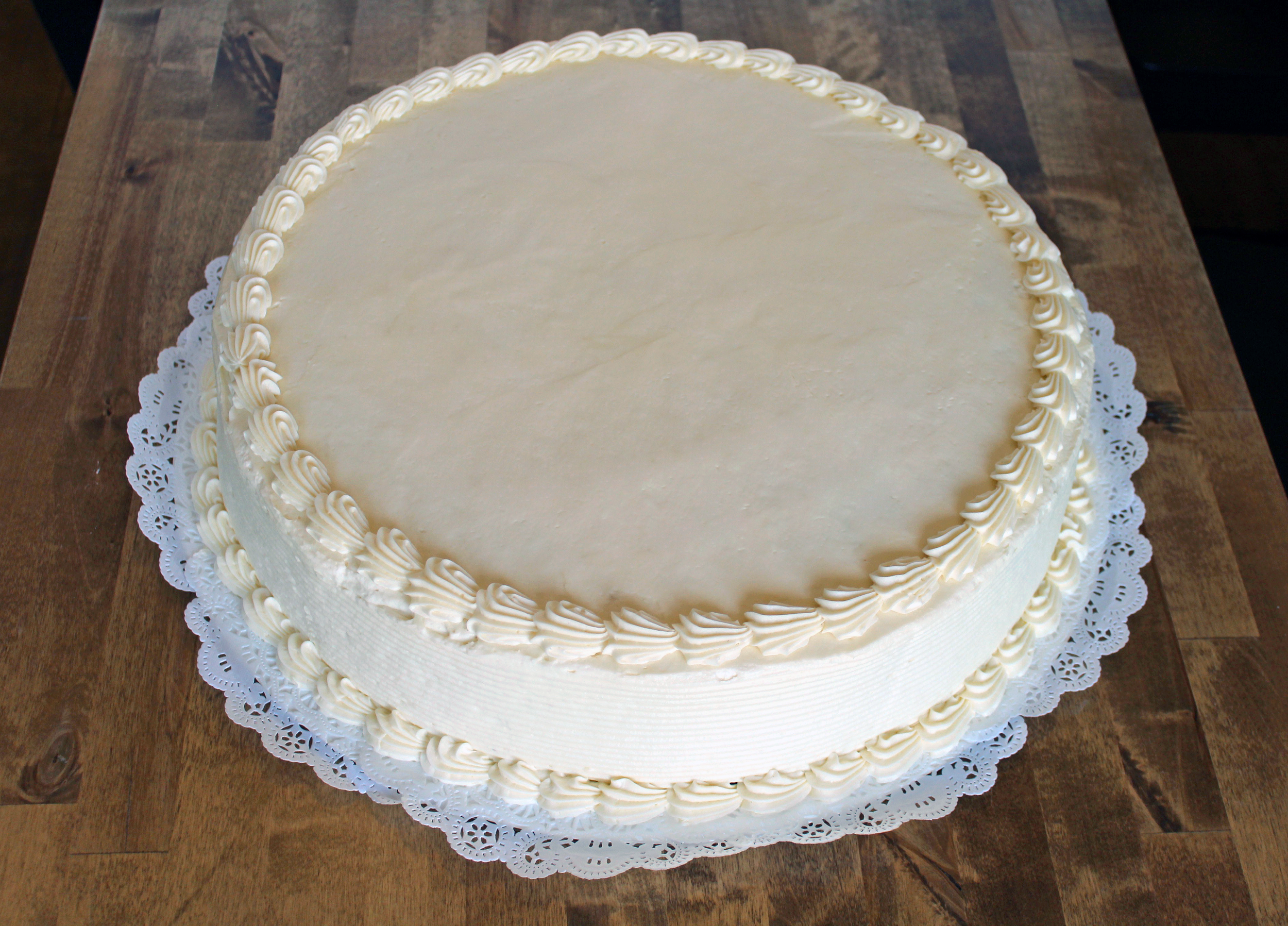 16 in round cake - $59.99    serves 45-55 people
