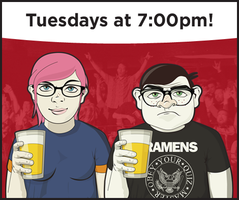 Geeks Who Drink Pub Quiz Trivia. Gilded Goat Brewing Company Fort Collins, Colorado. Tuesday Nights at 7 pm.