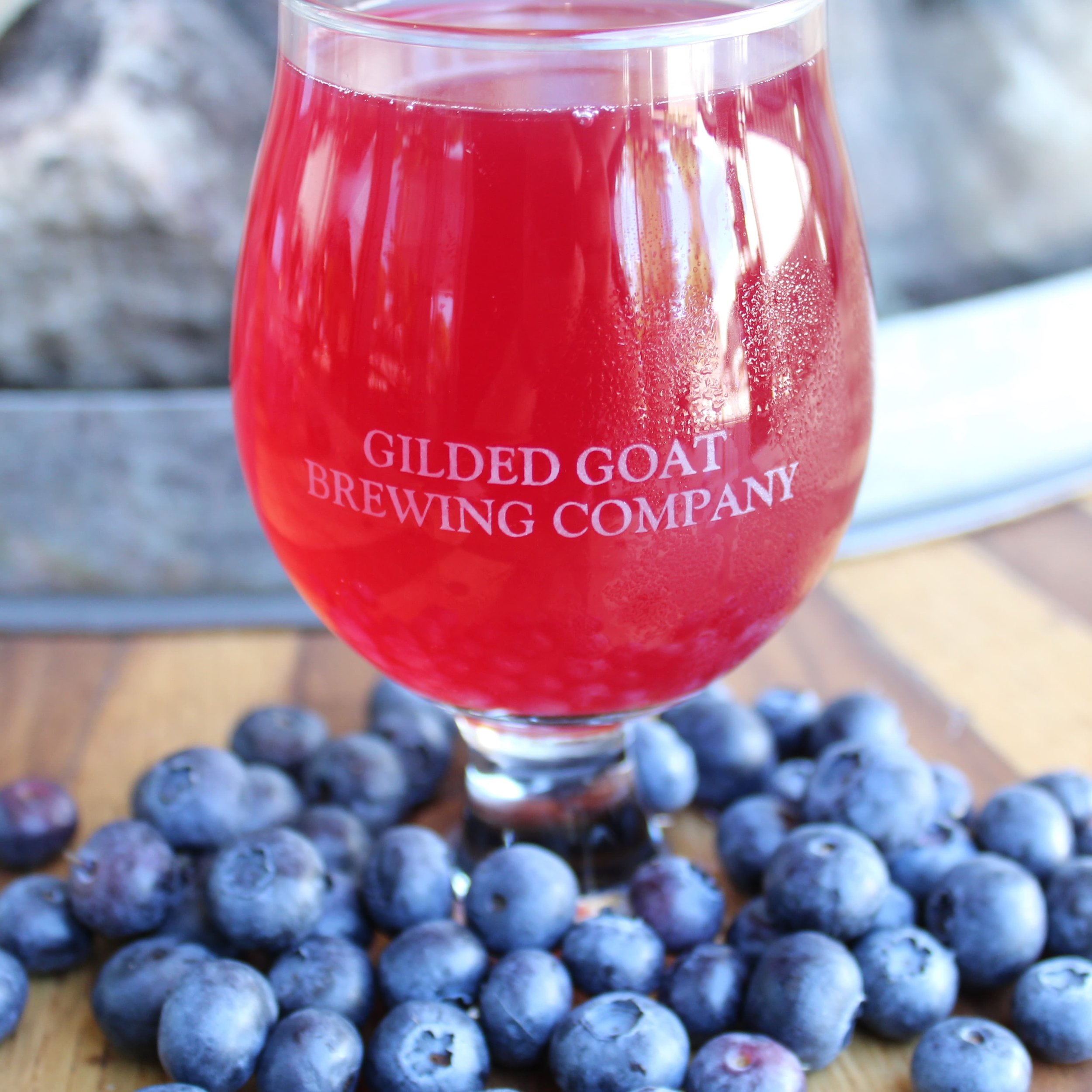 You're Turning Violet Blueberry Sour at Gilded Goat Brewing Company Fort Collins Colorado Craft Beer Patio