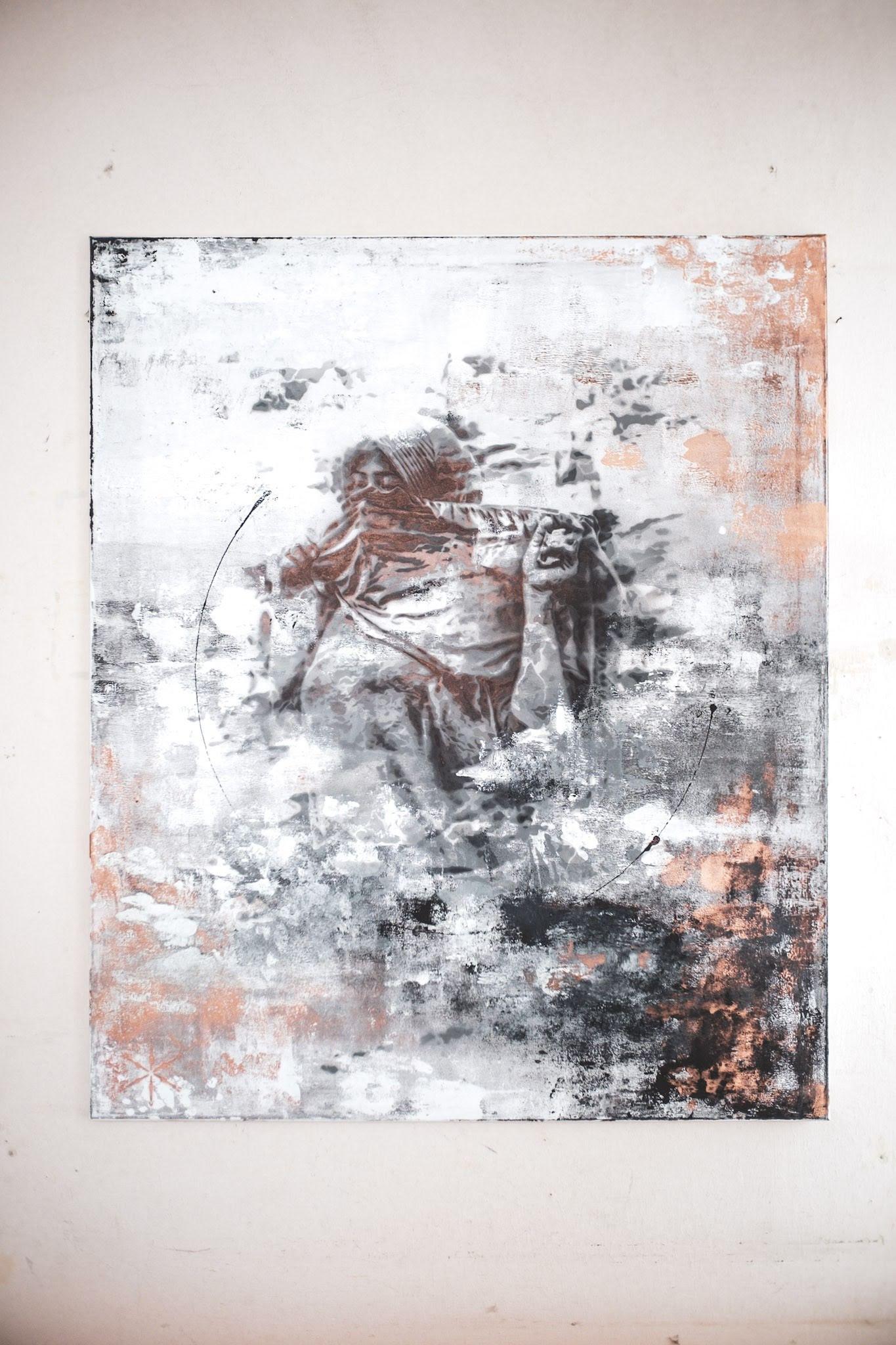 in veil deluge sebastian eismann handcut stencil art